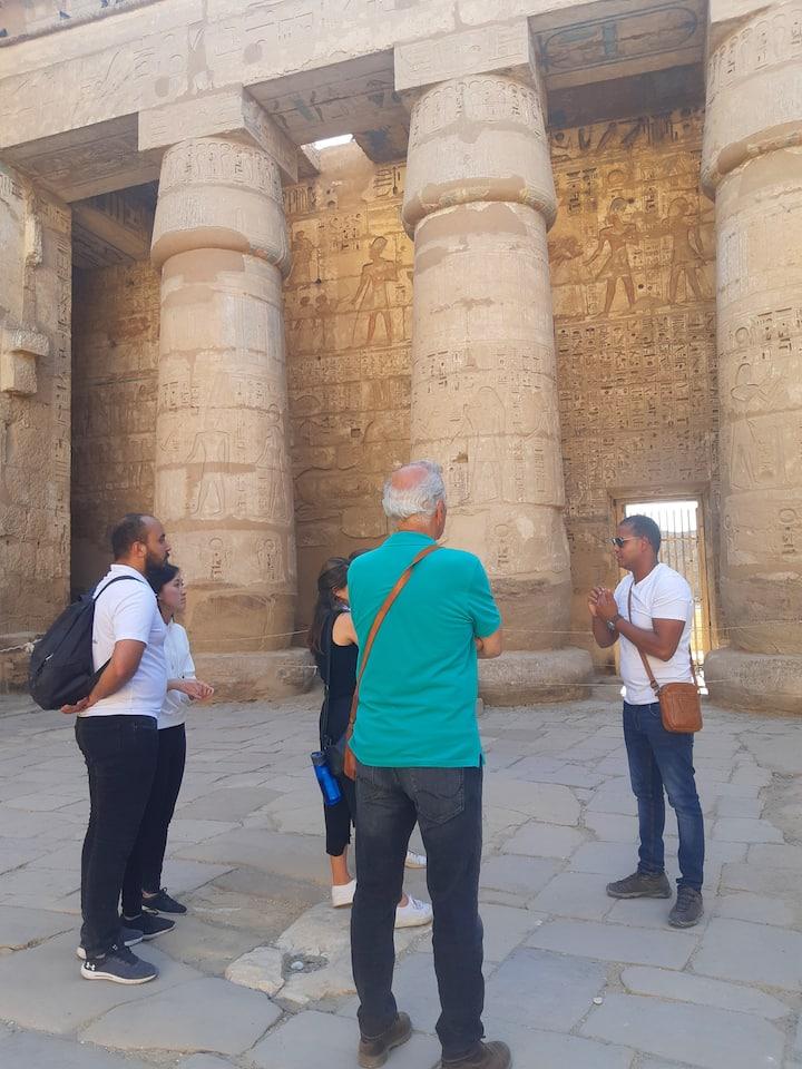 In the temple of Medinat Habu