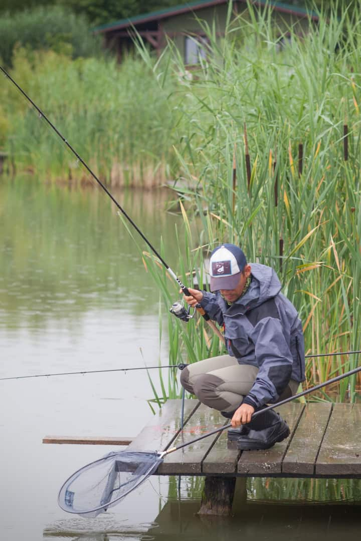 Even if it's raining, the fish is on!