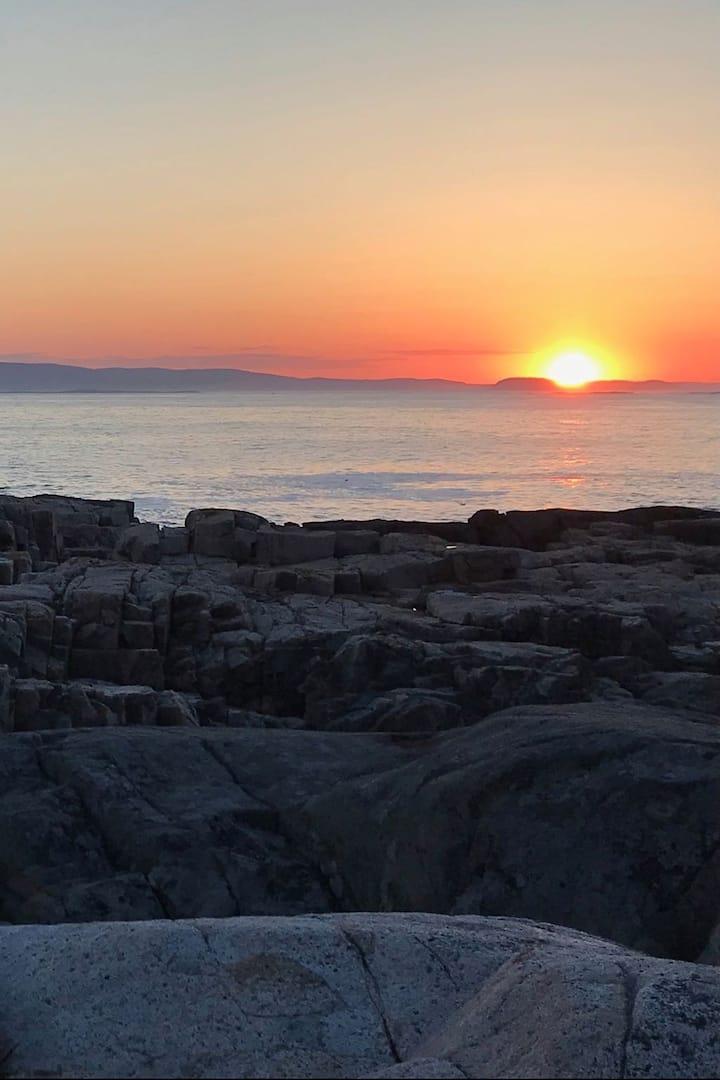 Sunset over Acadia Natl  Park @ Sundew