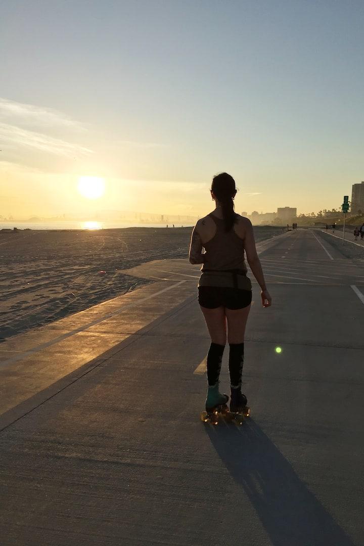 Sunset on skates
