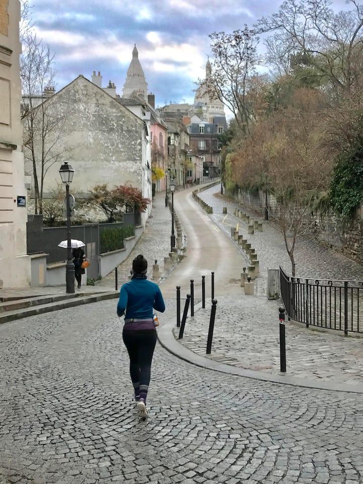 (Par)courir Montmartre à l'aube