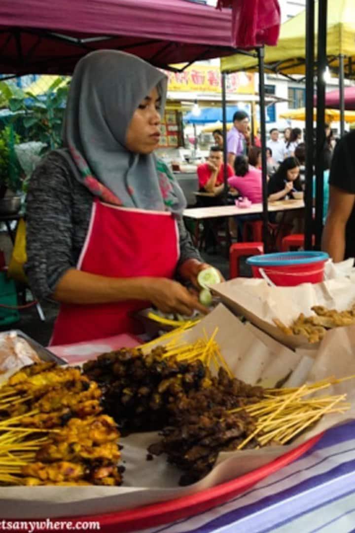 Famous Malay food - Satay.