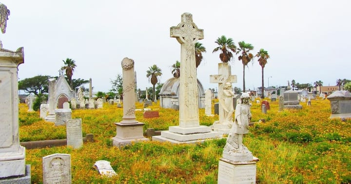 SOME cemeteries in Galveston are hidden