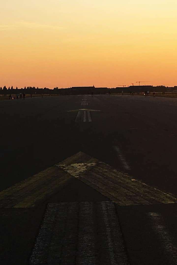"""Taking off"" from Tempelhof Airport"