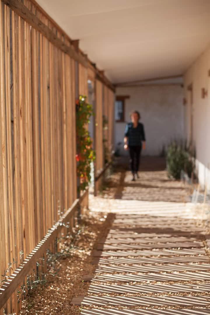Undercover walkway leading to ORTO