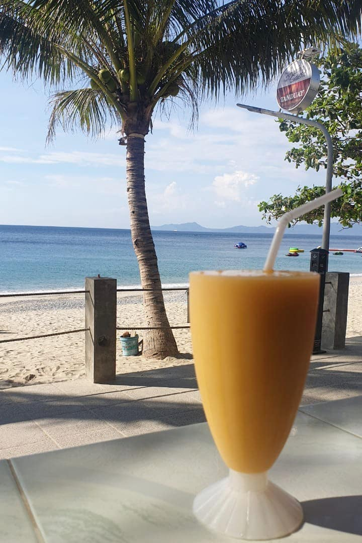 Mango Shake with the view