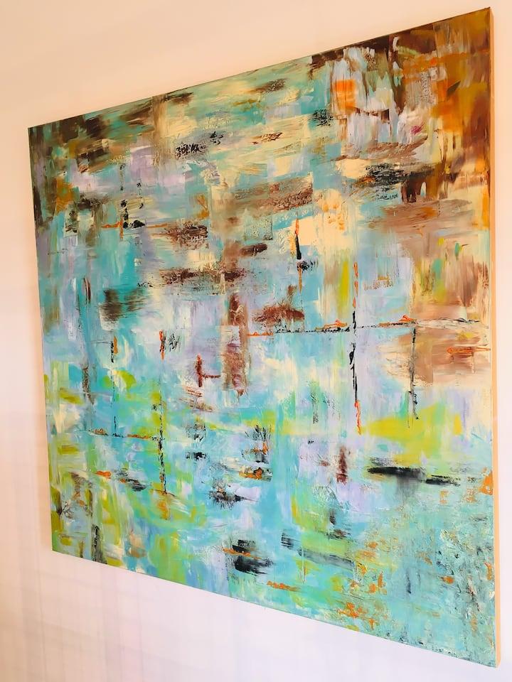 Peinture abstraite intuitive