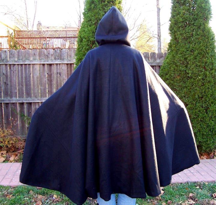 Black Cape with Hood  Workshop