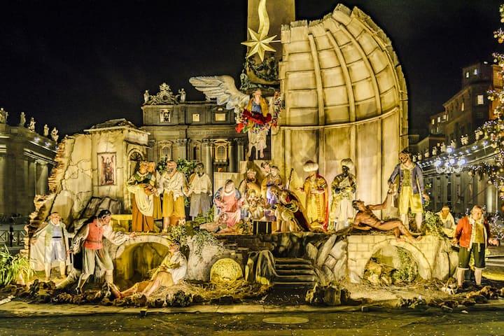 Nativity scene at Saint Peter's