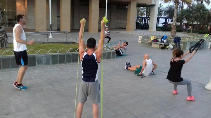 Functional training in Huelin