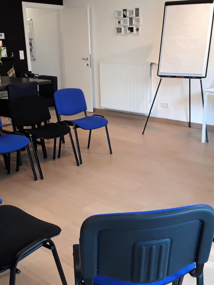 Spacious meeting room