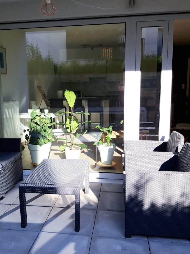 Our outdoor terrace