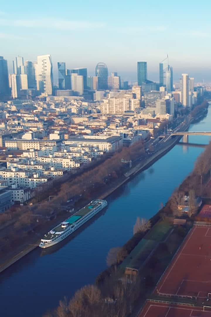 Beautiful LaDefense + Seine River