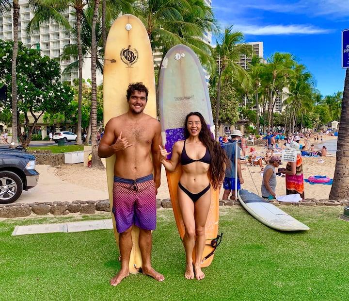 LeeLee and Dylan in Waikiki Hawaii!