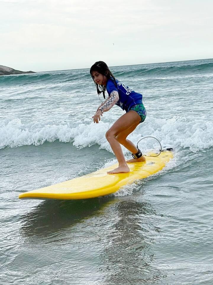 Em pé nas ondas!!