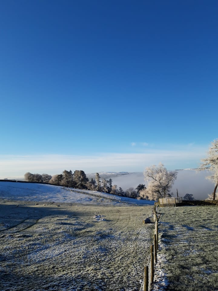 Hoar frost above the River Ribble