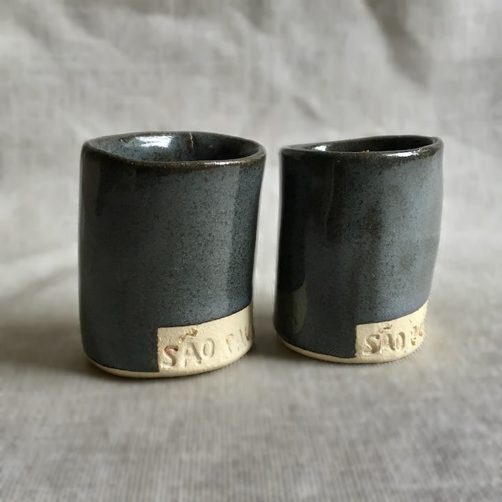 Set of espresso cups made in class