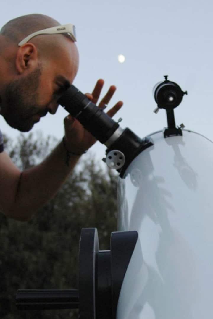 """Observando la luna con un Dobson 10"""""""