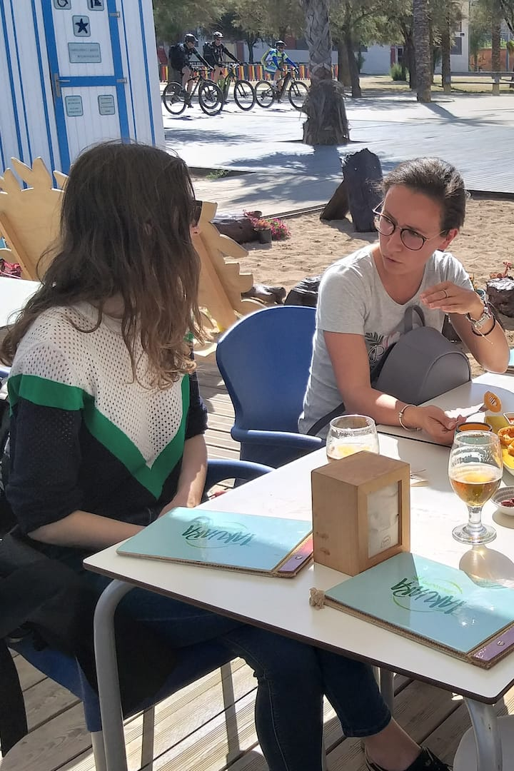 Tasting Local Tapas at a Beach Bar in Badalona