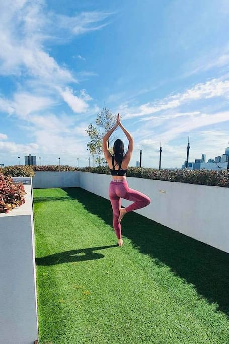 Rooftop Yoga With Stunning Views