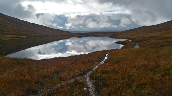 A beautiful Lochan on our route.
