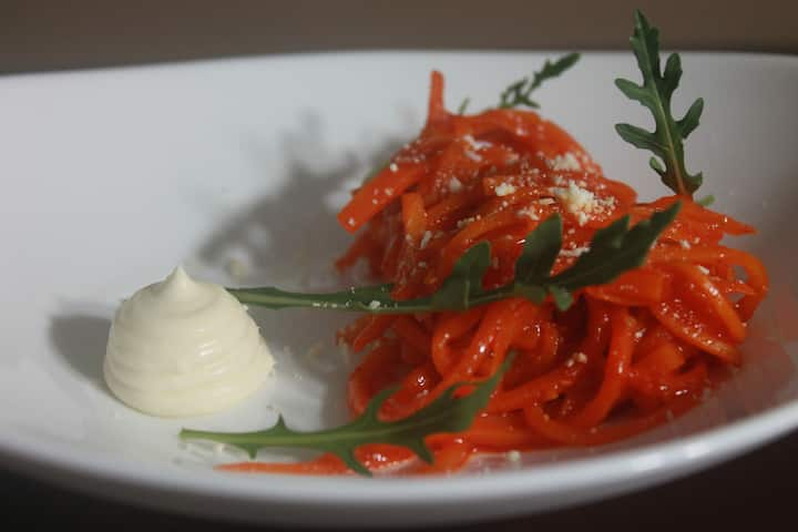 fake carrot fettuccine
