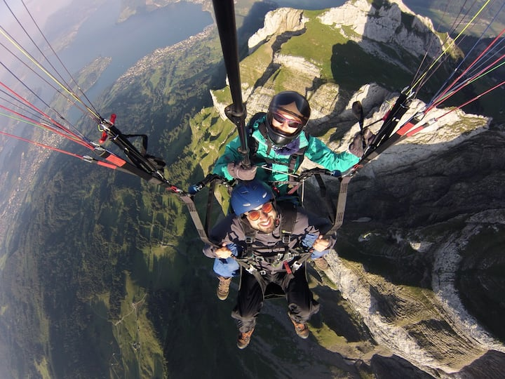 Paragliding at Mt. Pilatus