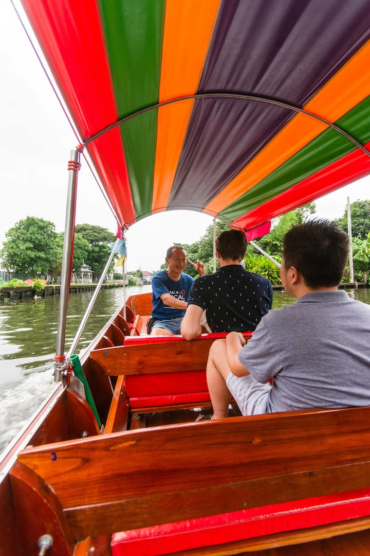 Take a boat ride along the canal