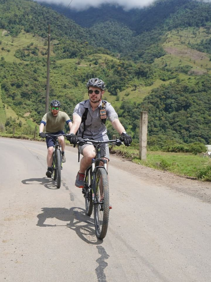 Biking in the Andes