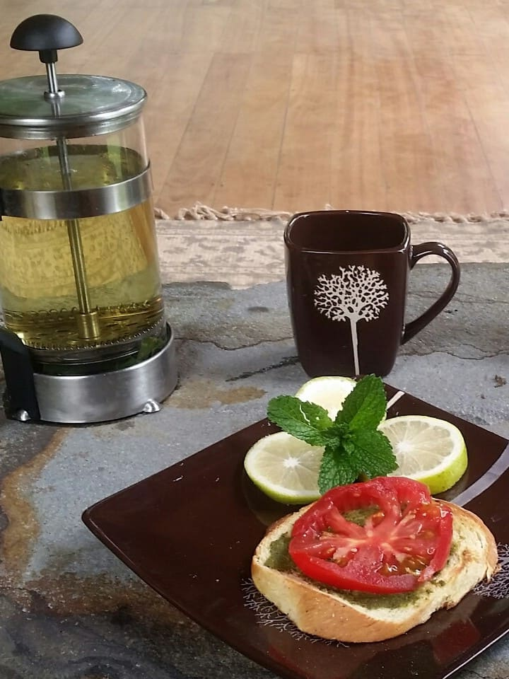 Light Snacks and Herbal Infusion