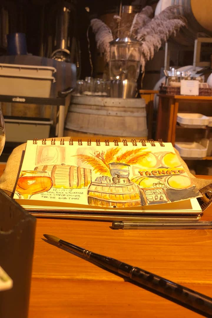 Fun sketching within local businesses.
