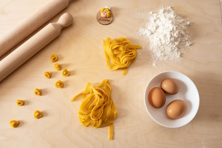 The ingredients for Fresh Pasta