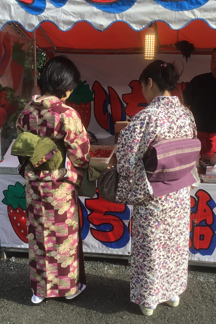 Street food at the shrine