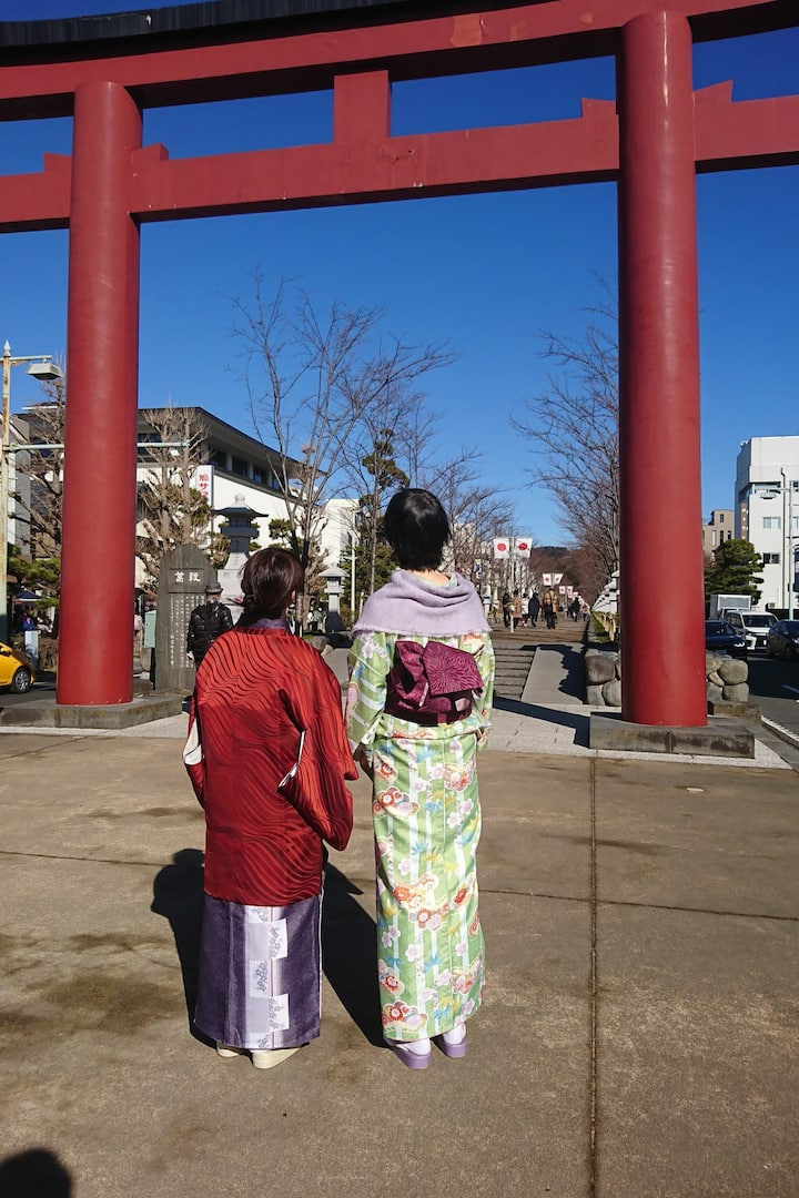In front of the second gate