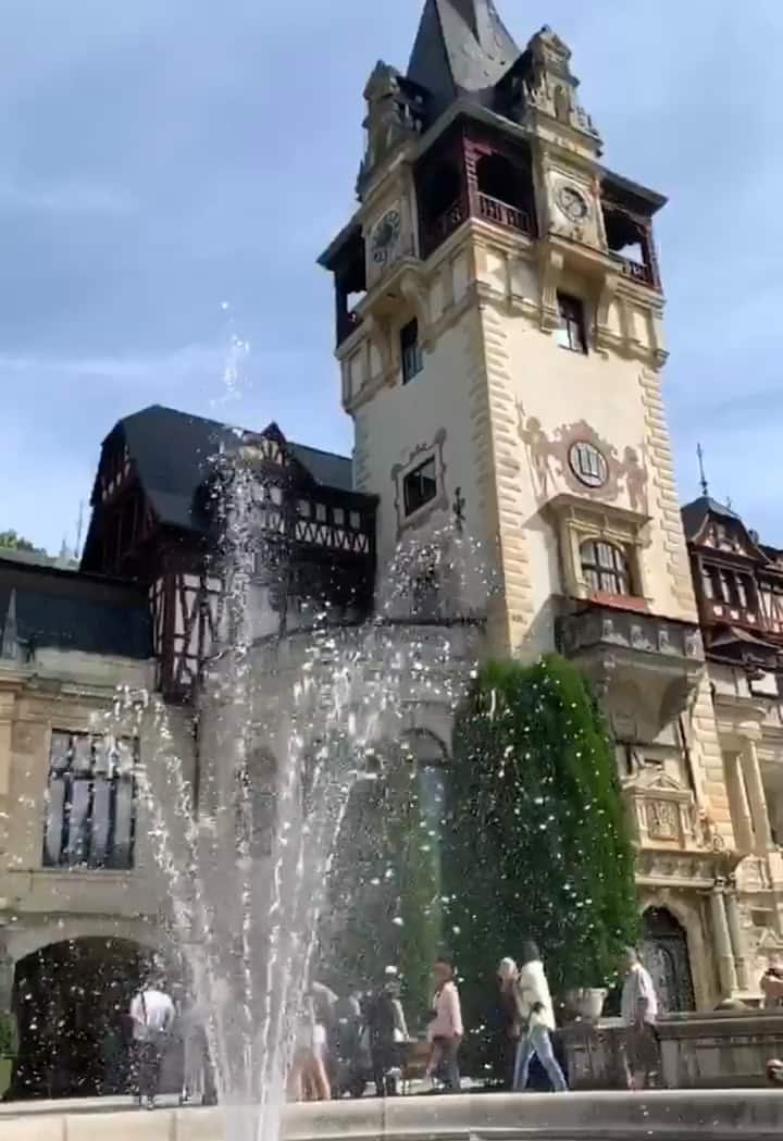 Peles Castle  Wish Fountain