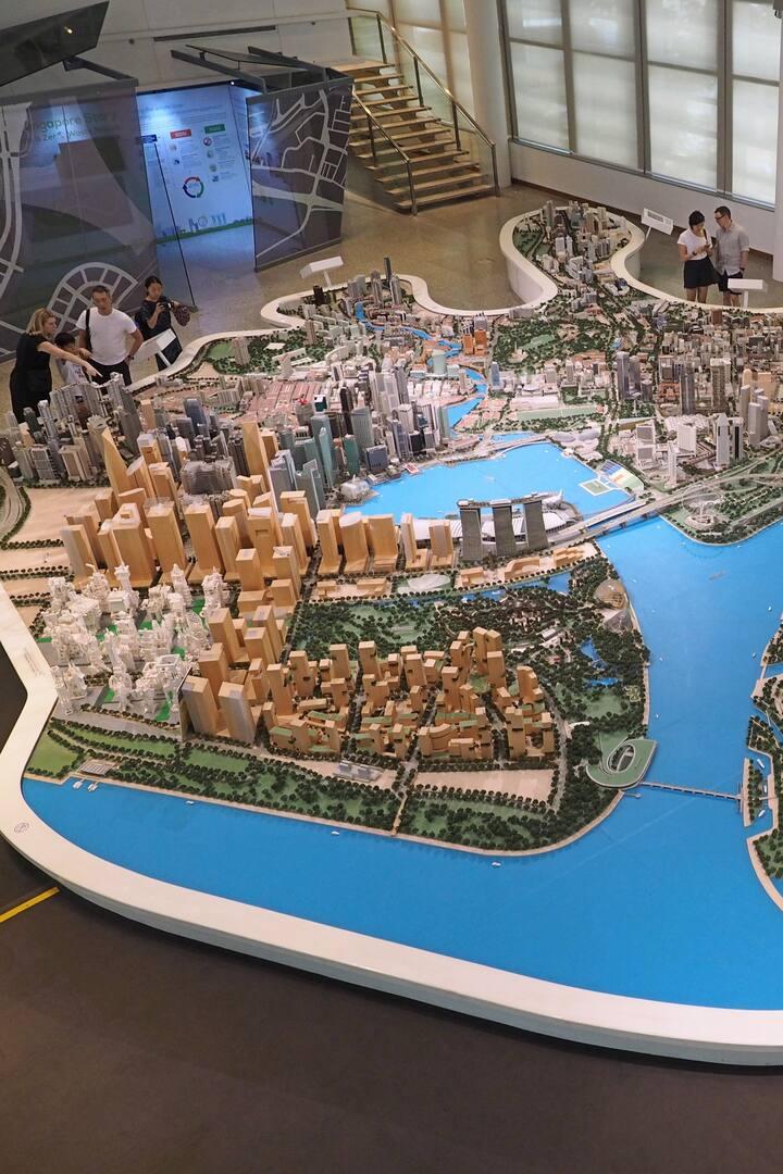 buildup model of Singapore city centre