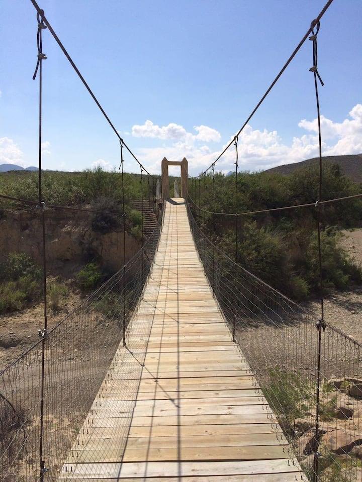 Puente Colgante en Boca de Potrerillos