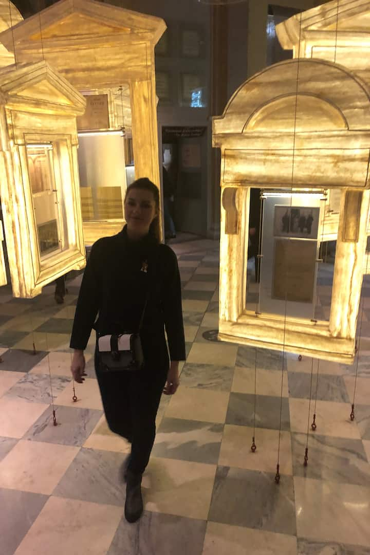 Irina in the Museum of Political History