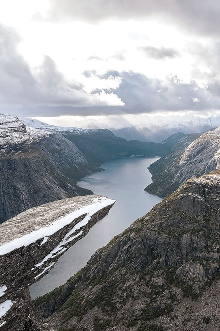 View from Trolltunga 18.09.2019