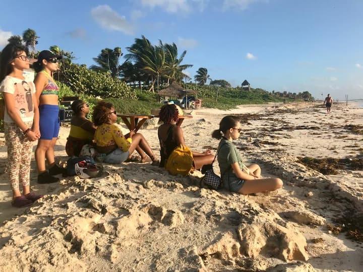 Meditación en la playa para empezar bien