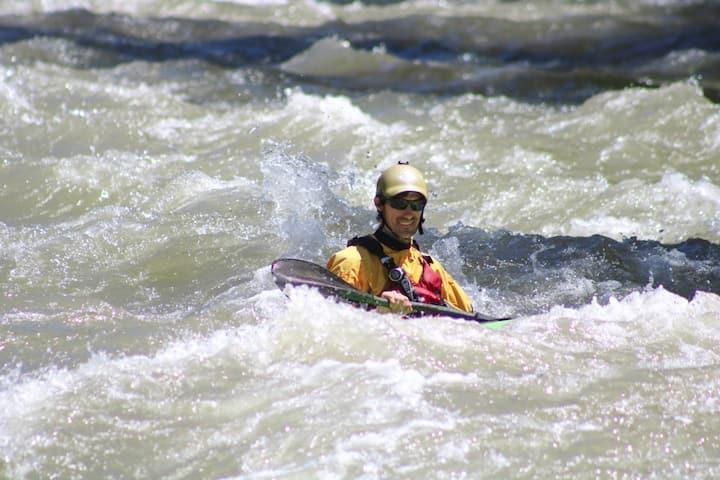Kayak rio Atuel