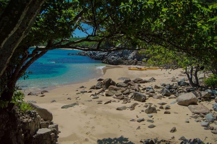 Playa del Amor; 1a. escala de Snorkel