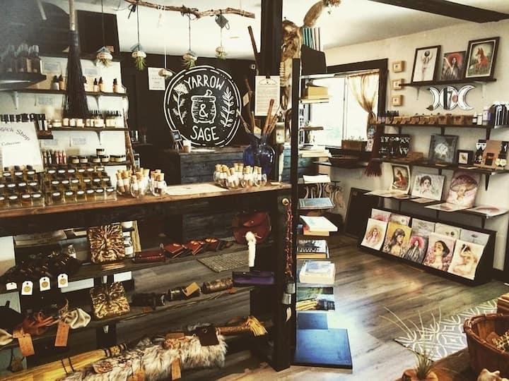 Apothecary shop at Yarrow & Sage