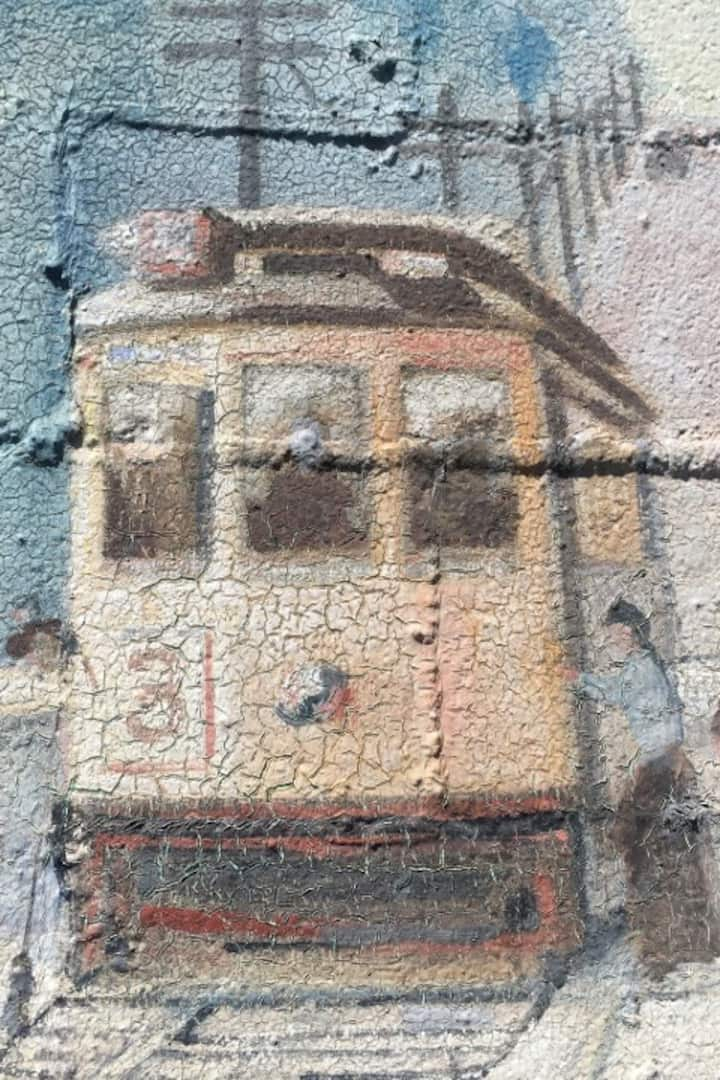 Detail of Junction streetcar scene