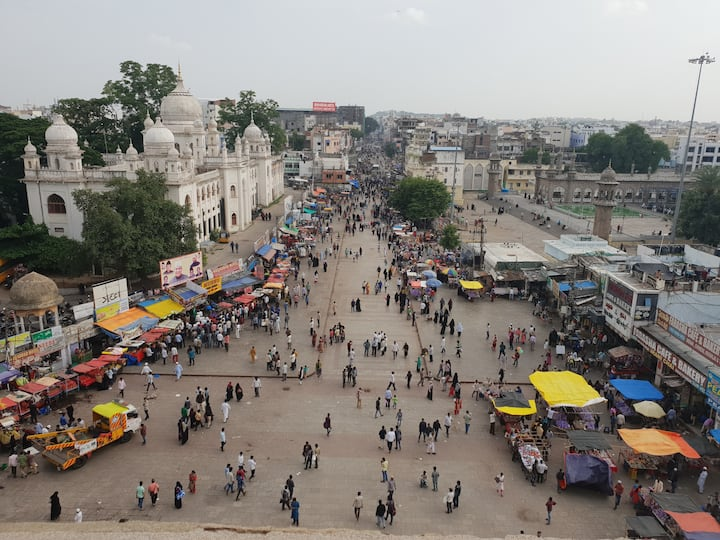 Full view from atop the Charminar