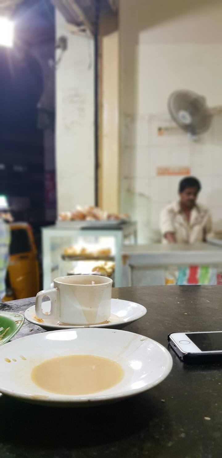 A cup of Irani chai