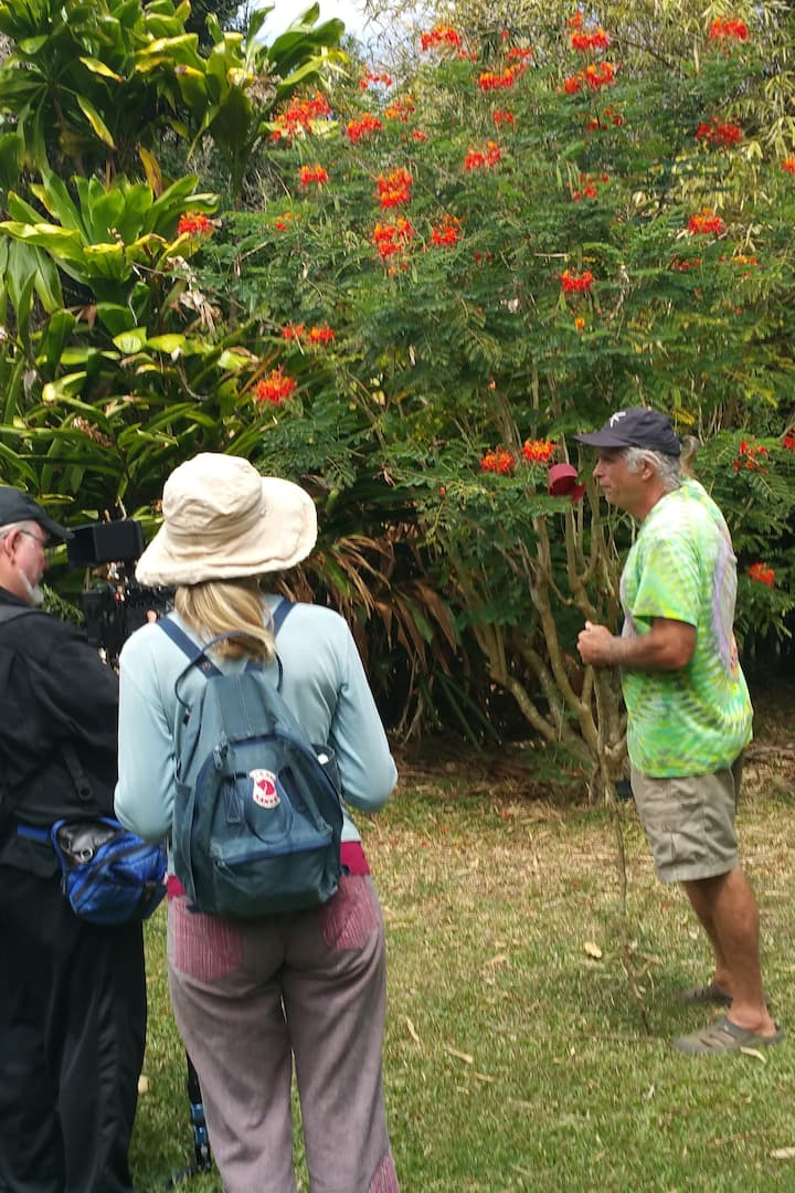 Your host richard talking plants