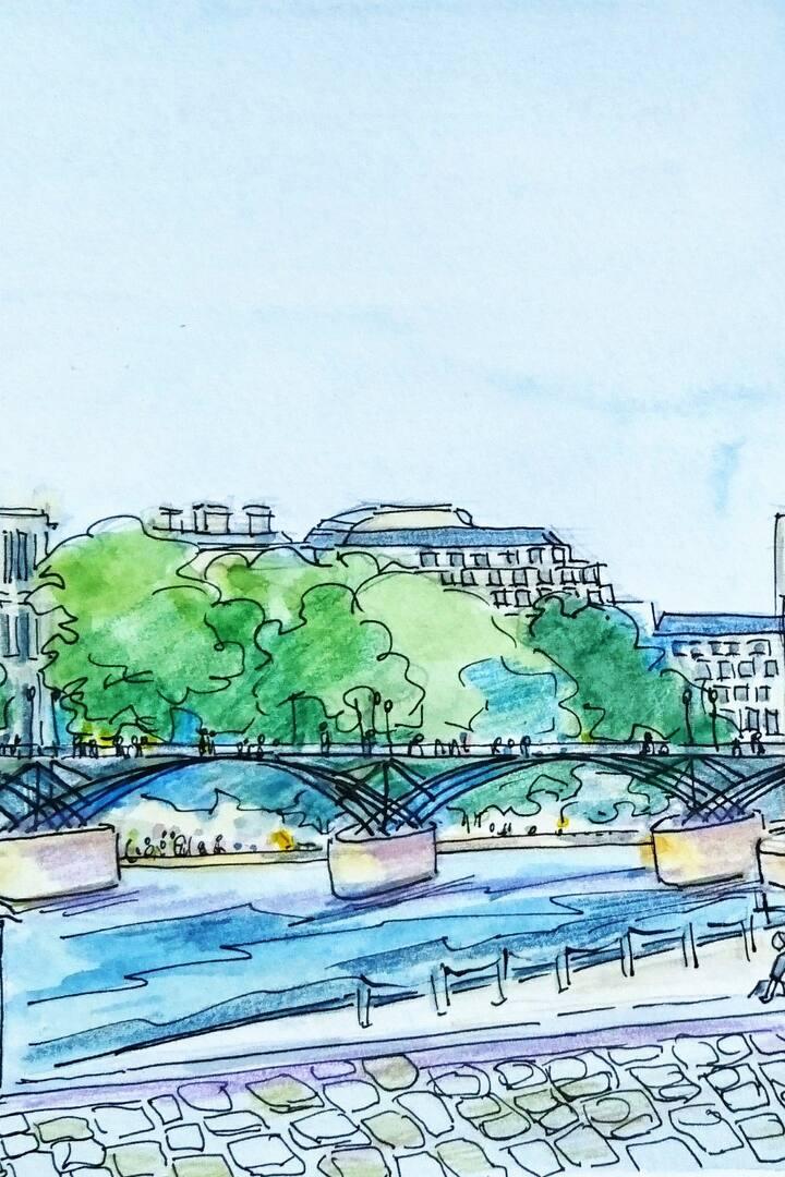 le pont des Arts vue rive gauche