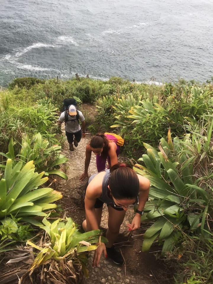 Hike through rugged terrain!