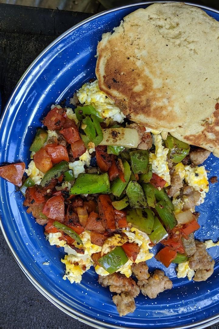 mid-morning pancake breakfast